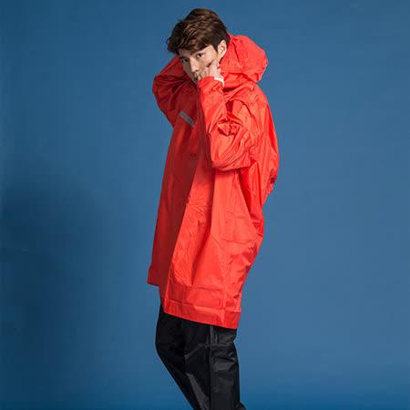 OutPerform-頂峰360度全方位太空背包雨衣(短版)-橘紅-上衣+單褲