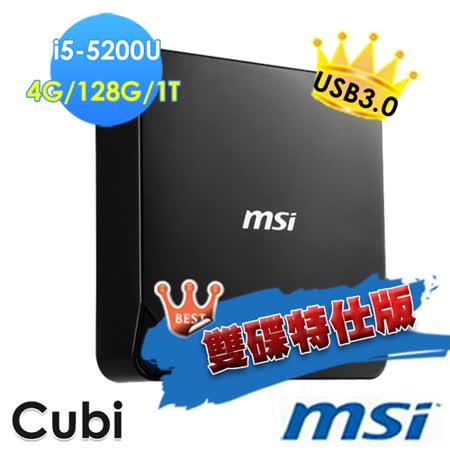 【msi微星】Cubi-072XTW i5-5200U 4G 128G輕巧隨行小主機(雙碟特仕版)