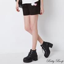 【Betty Boop貝蒂】大口袋棉質花苞短褲(共二色)