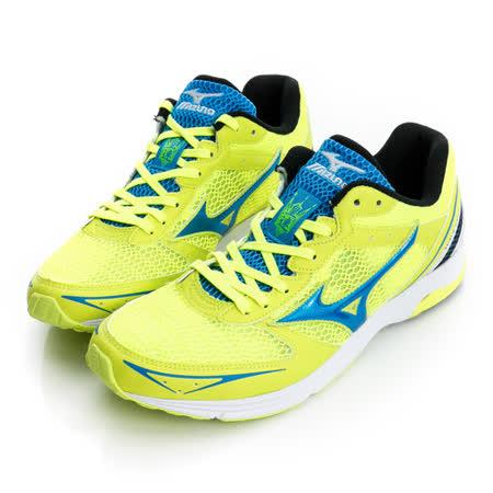 美津濃MIZUNO(男)慢跑鞋-黃藍-J1GA168603
