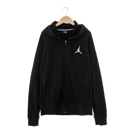 NIKE(男)JORDAN棉質運動外套(連帽)-黑-724510010