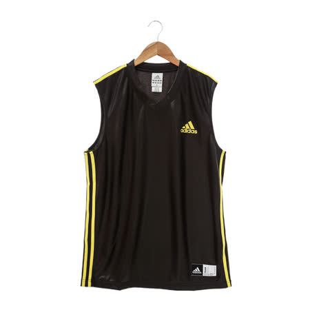 adidas(男)籃球背心-黑黃-P53003