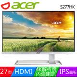 Acer 宏碁 S277HK 27型4K2K高畫質液晶螢幕