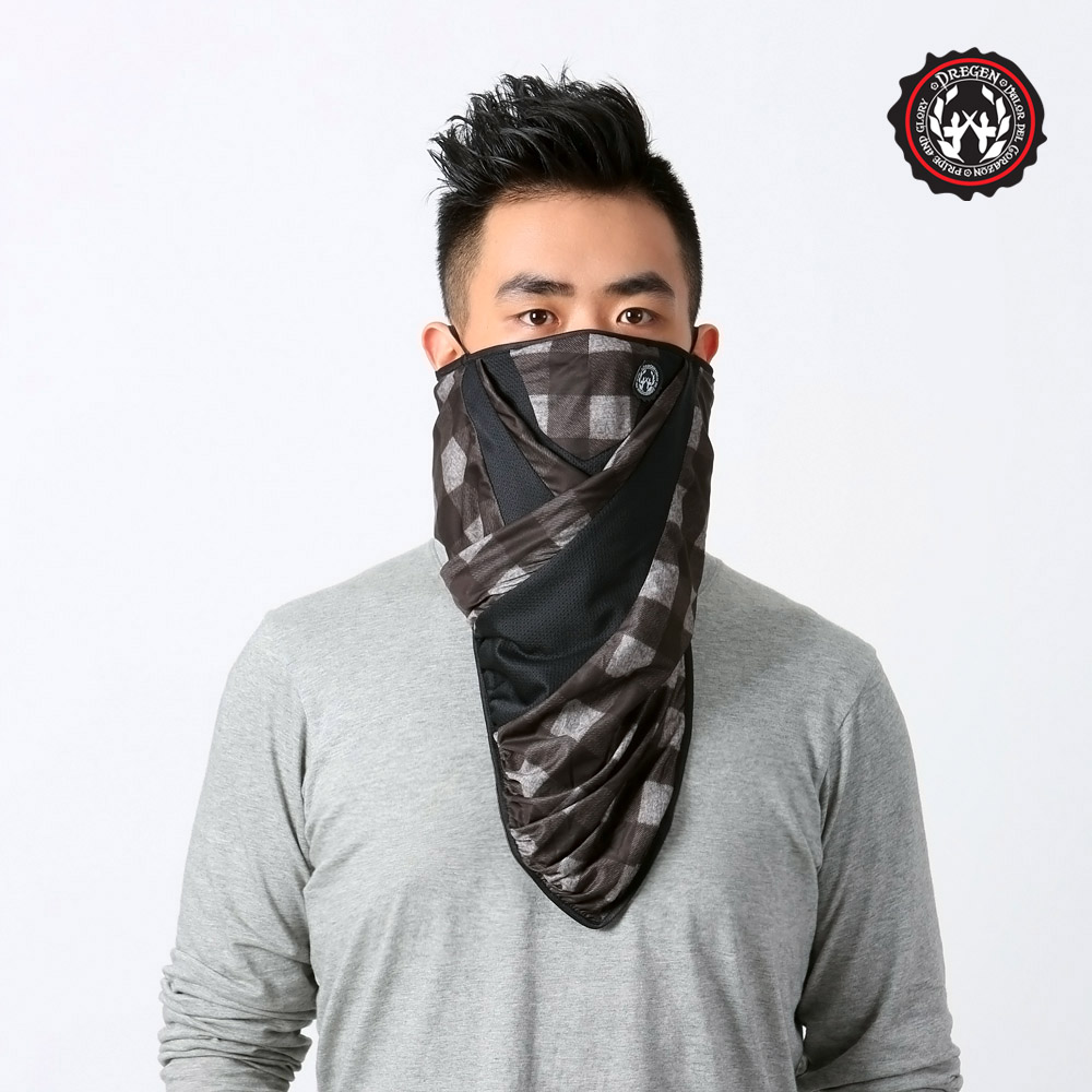 【DREGEN】遠東 汽車 百貨BL系列-三角巾面罩-俠客喝可可