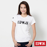 EDWIN 火星塞LOGO短袖T恤-女-白色