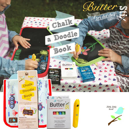 【天才小畫家】Jaq Jaq Bird 美國小朋友攜帶型粉筆畫冊+粉筆組 (5種款式)
