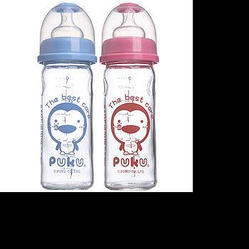 藍色企鵝 寬口玻璃奶瓶230c