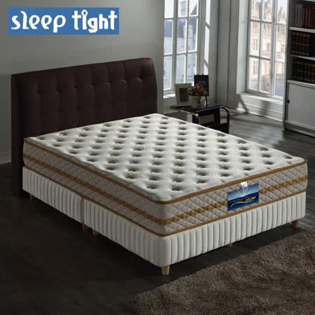 【Sleep tight】二線高蓬度/蠶絲/乳膠/舒柔布/蜂巢式獨立筒床墊(麵包床)(奢華型)-5尺雙人