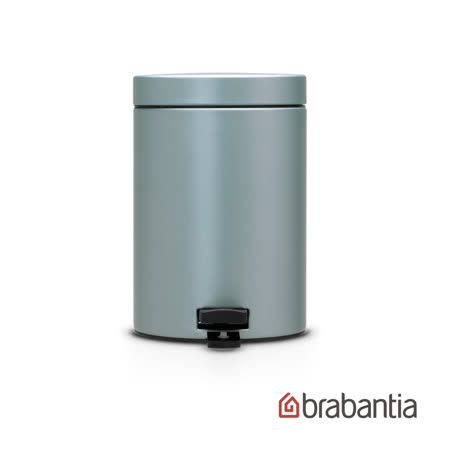 【Brabantia】 金屬藍腳踏式垃圾桶(3L)