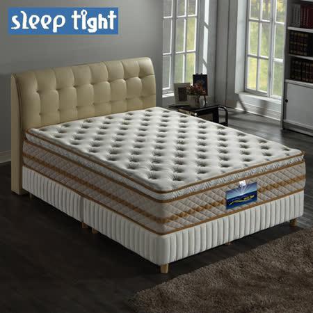 【Sleep tight】真三線高蓬度/蠶絲/乳膠/舒柔布/蜂巢式獨立筒床墊(麵包床)(奢華型)-6尺雙人加大