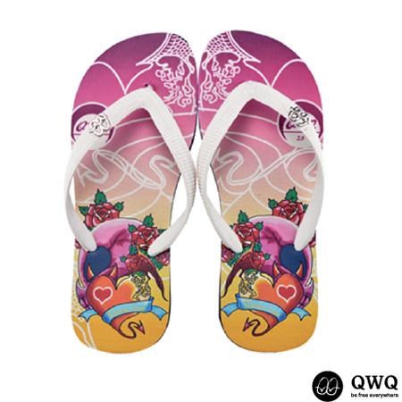 【QWQ】創意設計夾腳拖鞋-Demon Love-黑(男款)
