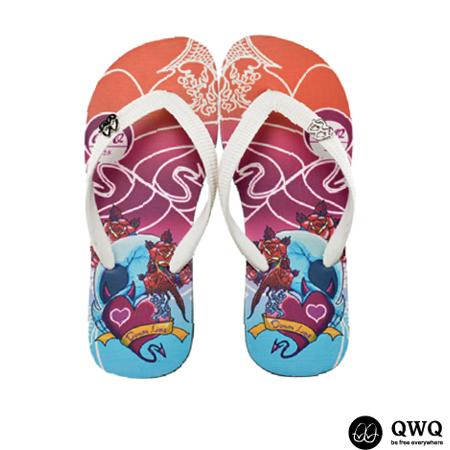 【QWQ】創意設計夾腳拖鞋-Demon Love-黑b(男款)