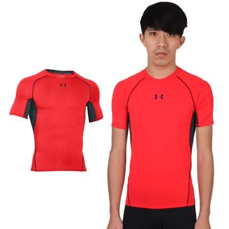 (男) UNDER ARMOUR UA HG ARMOUR短袖T恤 紅黑