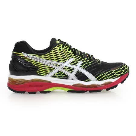 (男) ASICS GEL-NIMBUS 18慢跑鞋 - 路跑 健身 亞瑟士 黑綠紅