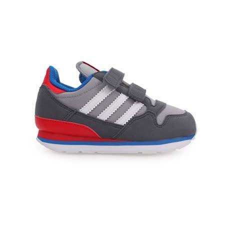(童) ADIDAS ZX 500 CF I男女慢跑鞋- 鞋 跑步 灰藍紅