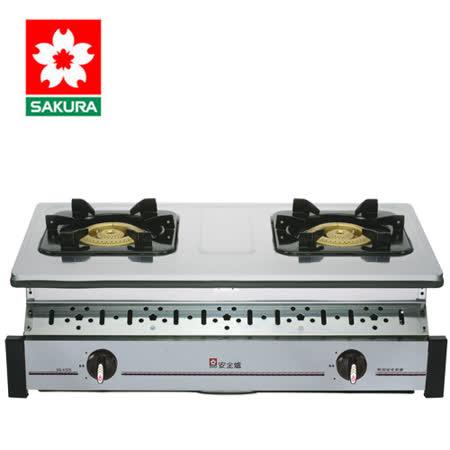 SAKURA櫻花 純銅爐頭全不鏽鋼嵌入爐 G6320K/G-6320K(桶裝瓦斯)