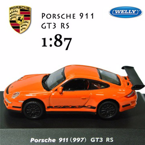 ~Welly~Porsche 911 GT3 RS 1:87模型車 保時捷911