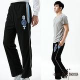 【遊遍天下】MIT男款抗UV吸排休閒運動長褲P118A黑色