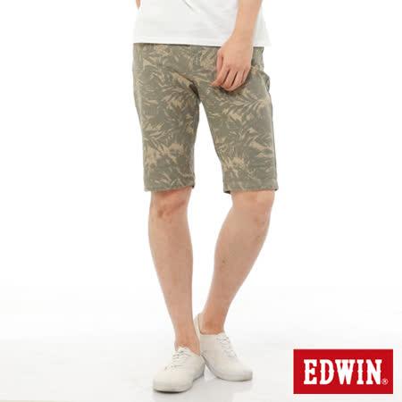 EDWIN 迦績褲JERSEYS印花五分色褲-男-卡其色