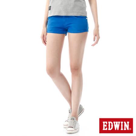 EDWIN 迦績褲JERSEYS短褲-女-藍色