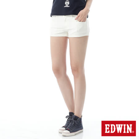 EDWIN 迦績褲JERSEYS短褲-女-白色