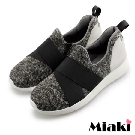 【Miaki】MIT 休閒鞋韓國時尚包鞋慢跑鞋 (灰色)