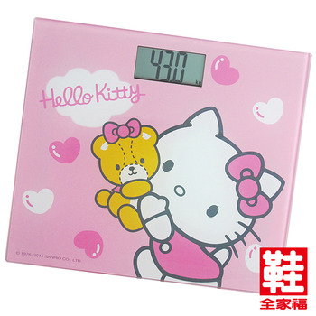 HELLO KITTY 電子體重計 粉色 鞋全家福