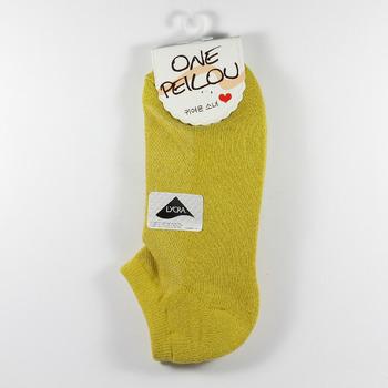 貝柔 機能萊卡運動防震護足船襪 土黃色 鞋全家福