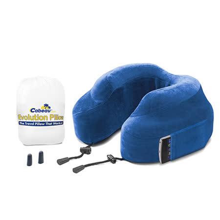 Cabeau 美國旅行用記憶頸枕 (藍色) 飛機靠枕 旅行靠枕