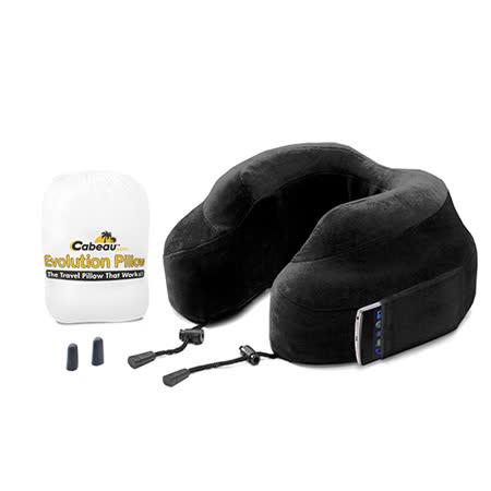 Cabeau 美國旅行用記憶頸枕 (黑色) 飛機靠枕 旅行靠枕