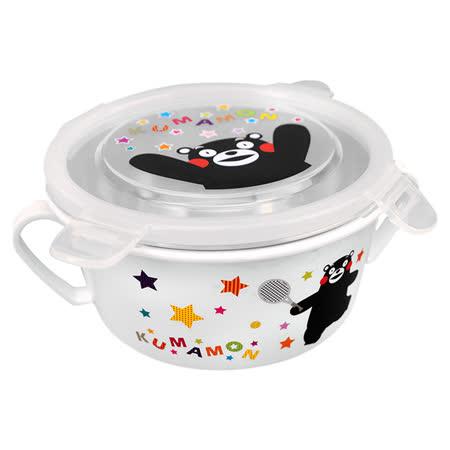 Kumamon酷MA萌 304不鏽鋼兒童雙耳隔熱碗450ml