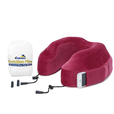 Cabeau 美國旅行用記憶頸枕 (深紅色) 飛機靠枕 旅行靠枕