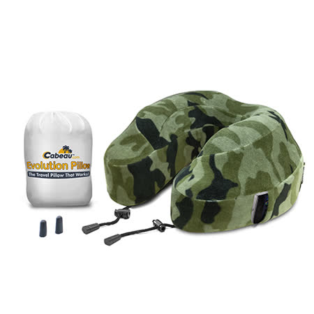 Cabeau 美國旅行用記憶頸枕 (Camouflage 迷彩紋) 飛機靠枕 旅行靠枕