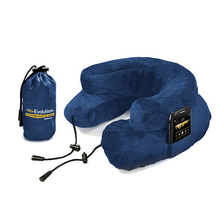 Cabeau 美國專利進化護頸充氣枕 - 藍色 飛機靠枕 旅行靠枕