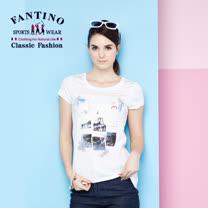 【FANTINO】女款 海洋復古風棉質上衣 571113