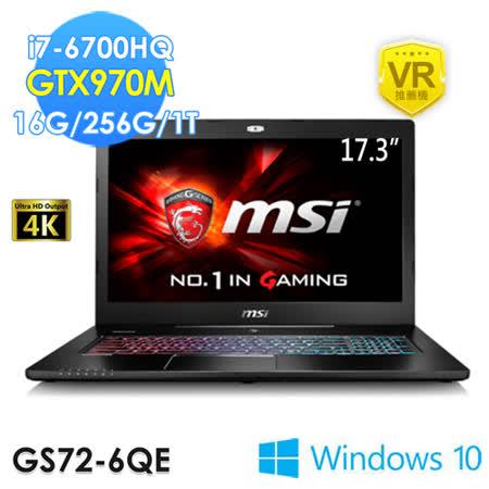 msi微星 GS72 6QE-235TW 17.3吋 i7-6700HQ GTX970M WIN10 電競筆電