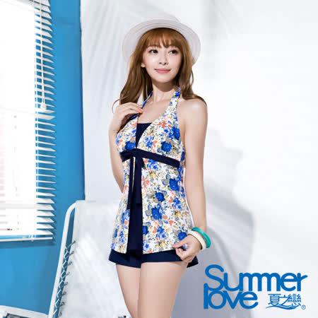 【SUMMERLOVE 夏之戀】熱帶印花長版三件式泳衣(S16718)