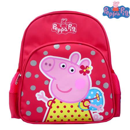 【Peppa Pig 粉紅豬】兒童後背包-幼稚園適(佩佩豬_梅紅_PP5753)