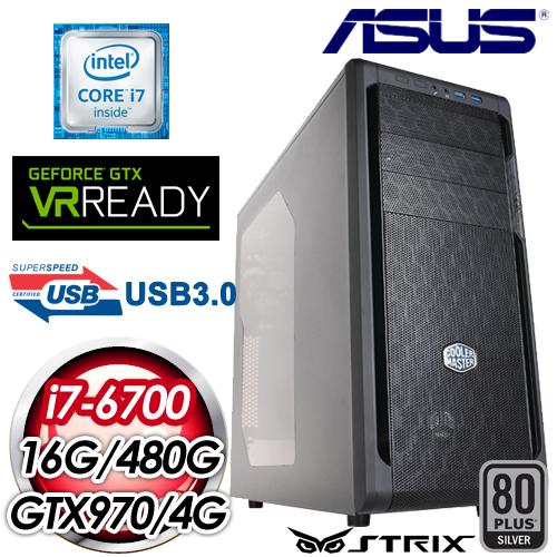 華碩Z170平台~屠夫鉤鐮~Intel i7~6700四核 STRIX GTX970~4G