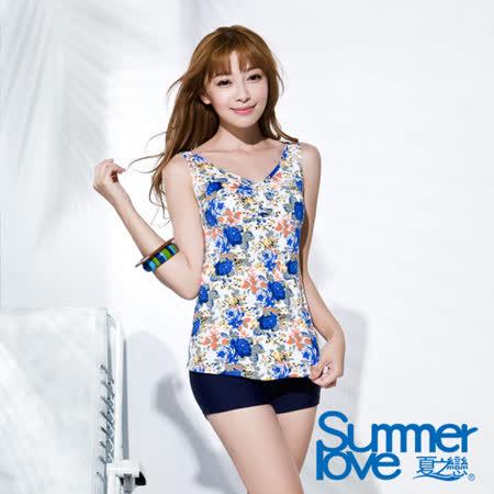 【SUMMERLOVE 夏之戀】熱帶印花長版兩件式泳衣-S16717