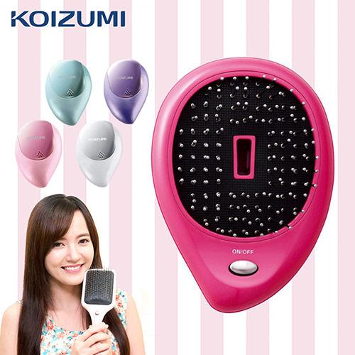 【日本KOIZUMI小泉成器】音波磁氣美髮梳 攜帶款附保護蓋-桃紅 KZB-0050VP