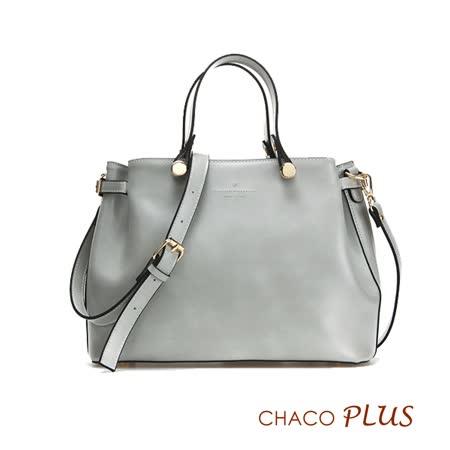 【CHACO韓國】韓製法式優雅復古手提包NO.1159 *灰色