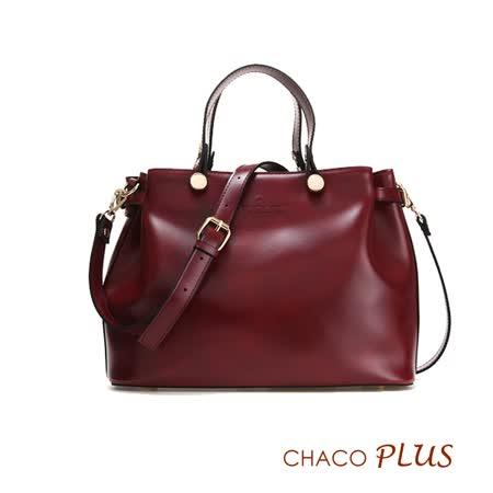 【CHACO韓國】韓製法式優雅復古手提包NO.1159 *酒紅色