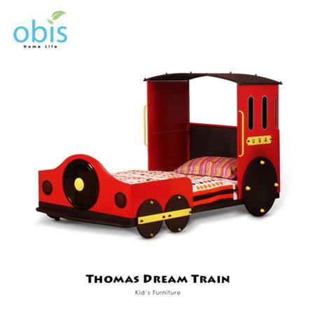 兒童家具/單人/床組/床架【obis】Kid's Neverland湯瑪士小火車系列 - 單人床架(含床墊)