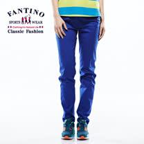 【FANTINO】女款 夏日舒適修身長褲 (寶藍色) 573204