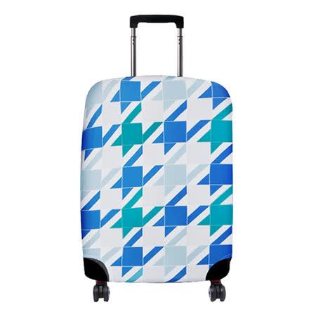 【Suitsuit】 荷蘭品牌行李箱套- 藍色格紋 (適用24-28吋行李箱)