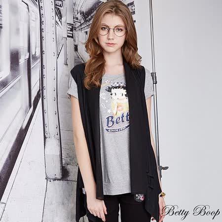【Betty Boop貝蒂】圓領膠印彩圖T恤(共二色)