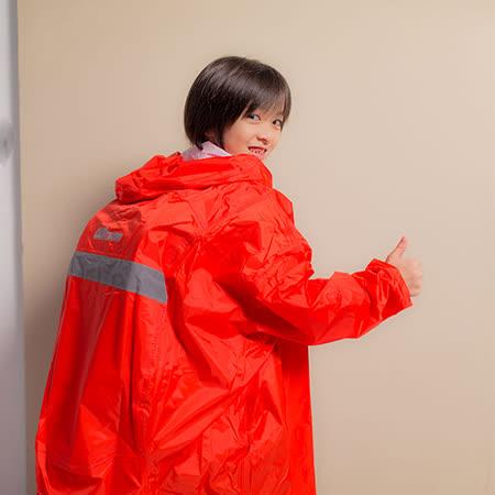 OutPerform-頂峰360度全方位兒童半開背包雨衣-橘紅