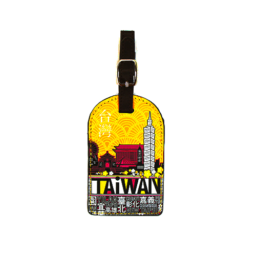 TAiWAN 行李吊新竹 sogo 百貨 公司牌-澄黃