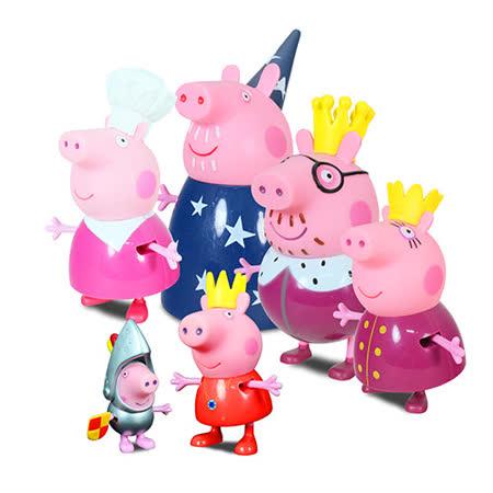 《Peppa Pig》粉紅豬小妹皇家系列-家庭公仔組